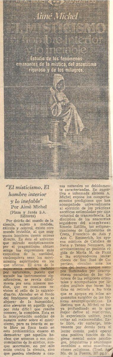 Libro religioso - El misticismo de Amie Michel